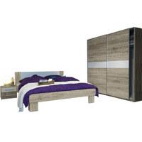 SPAVAĆA SOBA - bijela/boje hrasta, Design, drvni materijal - Boxxx