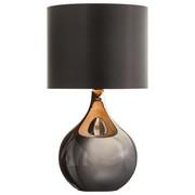 LAMPA STOLNÍ - černá, Lifestyle, kov/sklo (25/45cm) - Novel