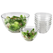 Salatschüsselset - Transparent, Basics, Glas - Leonardo