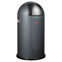 ABFALLSAMMLER PUSHBOY 50 L  - Edelstahlfarben/Graphitfarben, Kunststoff/Metall (40/75,5cm) - Wesco