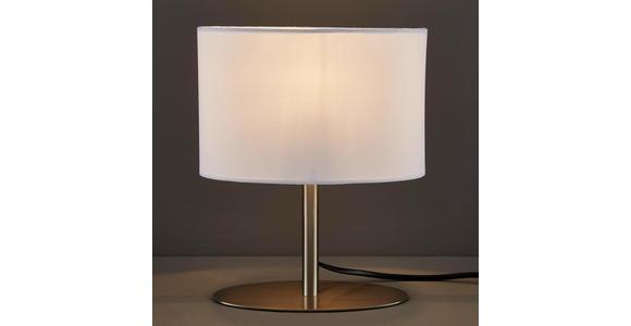 TISCHLEUCHTE - Weiß, LIFESTYLE, Textil/Metall (20/10/25cm) - Boxxx