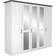 SKŘÍŇ ŠATNÍ, bílá, barvy lanýžového dubu - bílá/barvy lanýžového dubu, Lifestyle, kov/kompozitní dřevo (235/213/61cm) - Carryhome