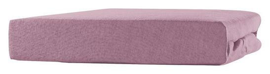 Spannleintuch Tamara - Rosa, KONVENTIONELL, Textil (90-100/200cm) - Ombra