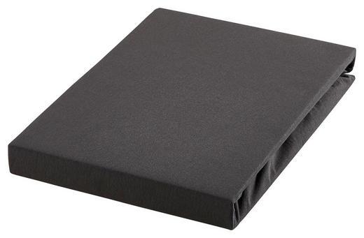 TOPPER-SPANNBETTTUCH Jersey Schwarz für Topper geeignet - Schwarz, KONVENTIONELL, Textil (100/200cm) - Esposa