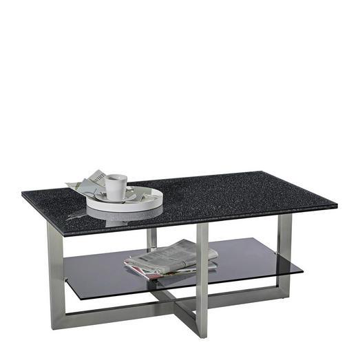 COUCHTISCH in Glas, Metall 100/60/45 cm - Edelstahlfarben/Alufarben, Design, Glas/Metall (100/60/45cm) - Novel