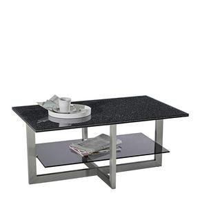 SOFFBORD - alufärgad/svart, Design, metall/glas (100/60/45cm) - Novel