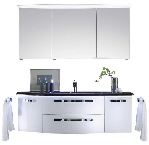 BADEZIMMER Weiß - Weiß, Design, Glas (155cm) - Sadena