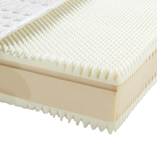 KOMFORTSCHAUMMATRATZE 100/200 cm  - Weiß, Basics, Textil (100/200cm) - Novel