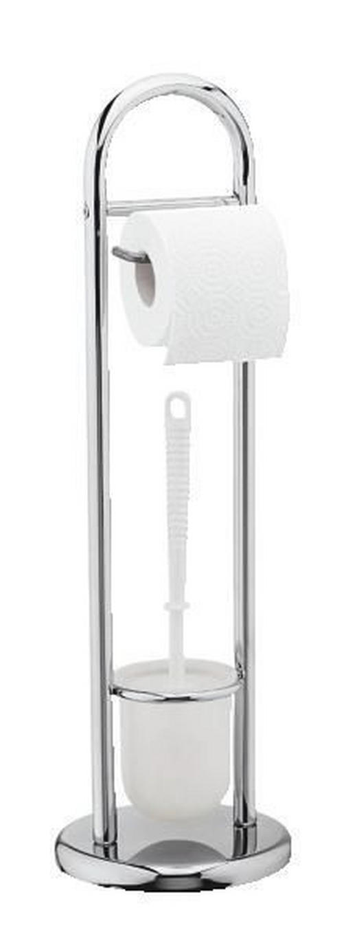 WC-BÜRSTENGARNITUR - Weiß, Design, Kunststoff (19/63cm)