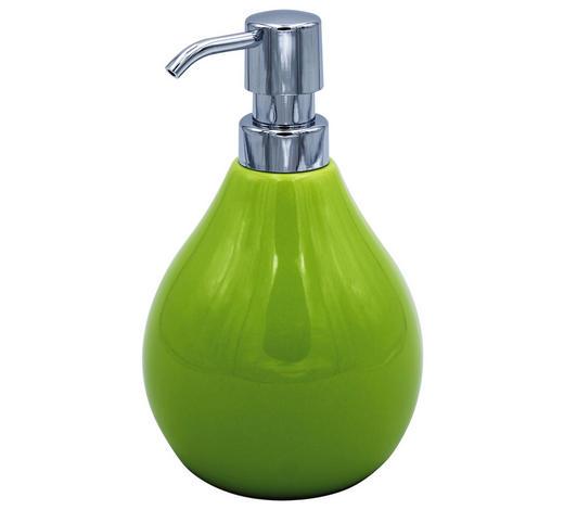 DÁVKOVAČ MÝDLA, zelená - zelená, Basics, keramika (10/17.5cm) - Sadena