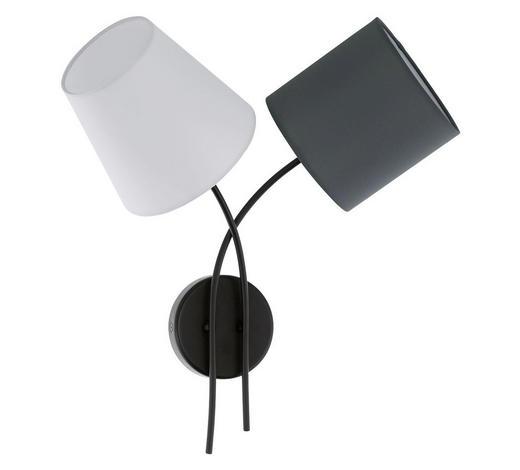 SVÍTIDLO NÁSTĚNNÉ - bílá/černá, Design, kov/textil (42cm)