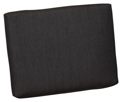 RÜCKENKISSEN Uni - Graphitfarben, KONVENTIONELL, Textil (42/31/4cm)