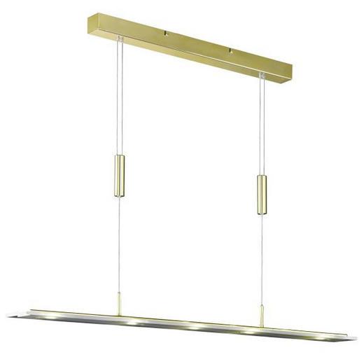 HÄNGELEUCHTE - Weiß, LIFESTYLE, Glas/Metall (102cm)