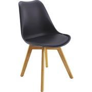 STUHL in Holz, Textil Eichefarben, Schwarz - Eichefarben/Schwarz, Design, Holz/Textil (48/84/53cm) - XORA
