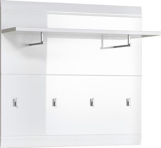 GARDEROBENPANEEL Hochglanz Weiß - Weiß, Design (96/90/29cm) - Carryhome