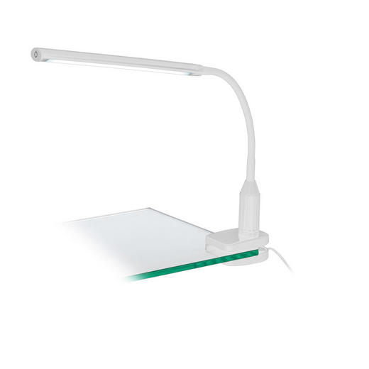 SCHREIBTISCHLEUCHTE - Weiß, MODERN, Kunststoff (45/27/6,5cm)