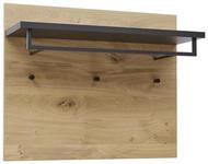 GARDEROBENPANEEL 80/65/27 cm  - Eichefarben/Anthrazit, Design, Holz/Metall (80/65/27cm) - Dieter Knoll