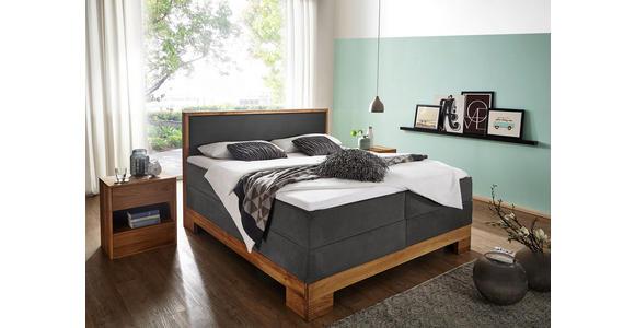 BOXSPRINGBETT 160/200 cm - Grau, KONVENTIONELL, Holz/Textil (160/200cm) - Linea Natura