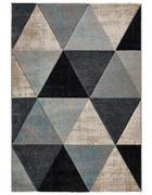 WEBTEPPICH  160/230 cm  Blau, Schwarz, Beige   - Blau/Beige, Naturmaterialien/Textil (160/230cm) - Novel