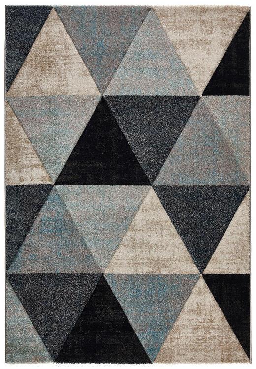 WEBTEPPICH  160/230 cm  Beige, Blau, Schwarz - Blau/Beige, Textil/Weitere Naturmaterialien (160/230cm) - Novel
