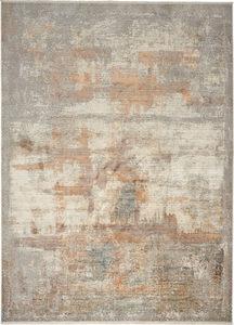 RETRO TEPIH - Srebrna/Kari žuta, Dizajnerski, Tekstil (160/230cm) - Dieter Knoll