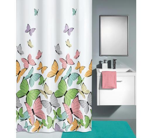 DUSCHVORHANG - Multicolor/Weiß, KONVENTIONELL, Textil (180/200cm) - Kleine Wolke