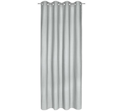 ÖSENVORHANG blickdicht - Hellgrau, Basics, Textil (140/245cm) - Esposa