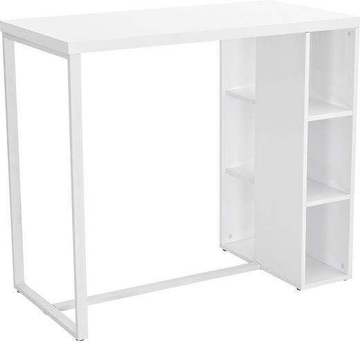 BARTISCH rechteckig Weiß - Weiß, Design, Metall (120/60/105cm) - Carryhome