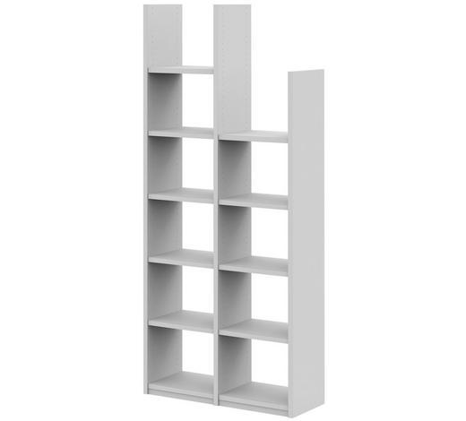 BÜCHERWAND in 100/112,9/25 cm Weiß  - Weiß, Design, Holzwerkstoff/Metall (100/112,9/25cm)