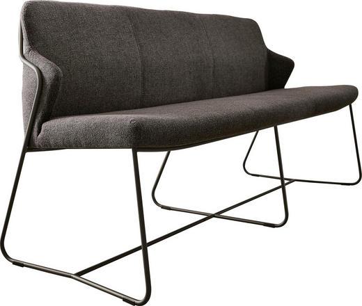 SITZBANK Webstoff Anthrazit, Grau - Anthrazit/Grau, Design, Textil/Metall (180cm) - Musterring