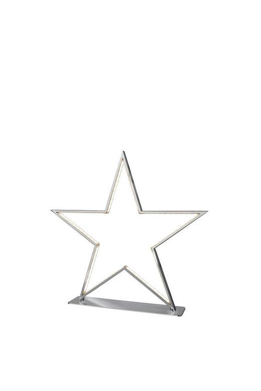 LED-TISCHLEUCHTE - Nickelfarben, Design, Metall (33cm)