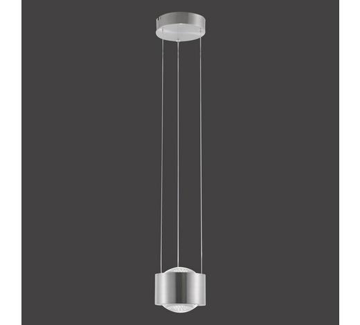 LED-HÄNGELEUCHTE - Silberfarben, Design, Glas/Metall (16/120cm)