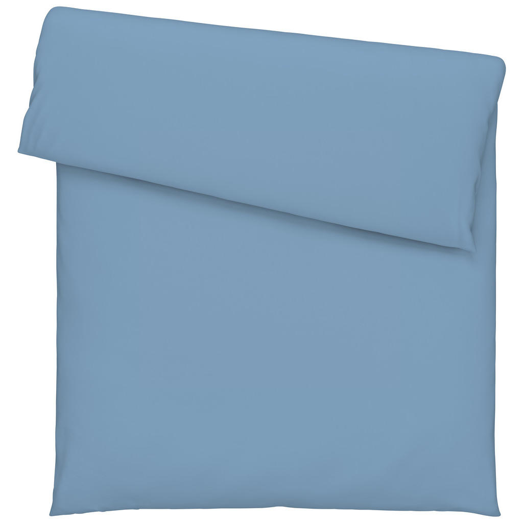 Image of Bio:Vio Duvetbezug 160/210 cm , Satin Gots Bettbezug , Blau , Textil , Uni , 160 cm , Satin , atmungsaktiv, schadstoffgeprüft , 003917040101
