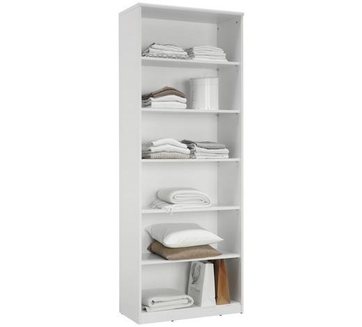 REGÁL, bílá - bílá/černá, Konvenční, kompozitní dřevo (72/194/36cm) - Xora