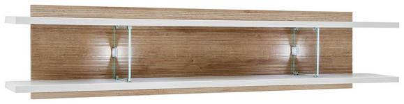 WANDBOARD in 150/35/24 cm Eichefarben, Weiß - Eichefarben/Weiß, Design, Glas/Holzwerkstoff (150/35/24cm) - Novel