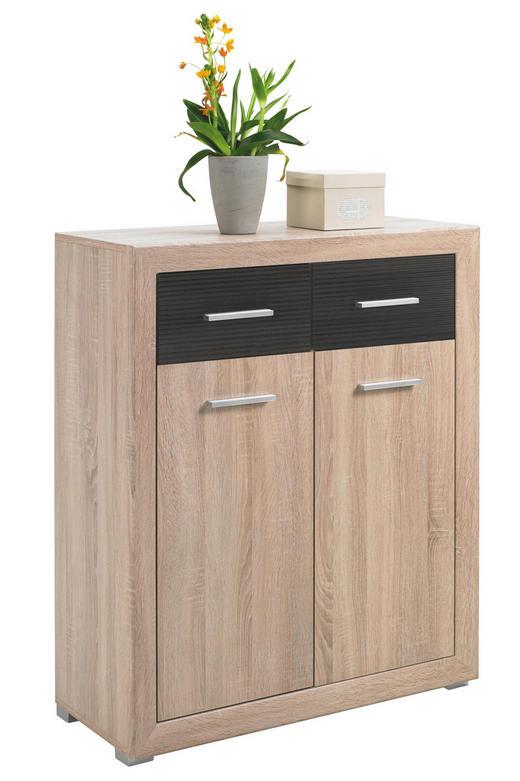 KOMMODE Eichefarben, Pinienfarben - Eichefarben/Silberfarben, Design, Kunststoff (88/105/40cm) - Boxxx
