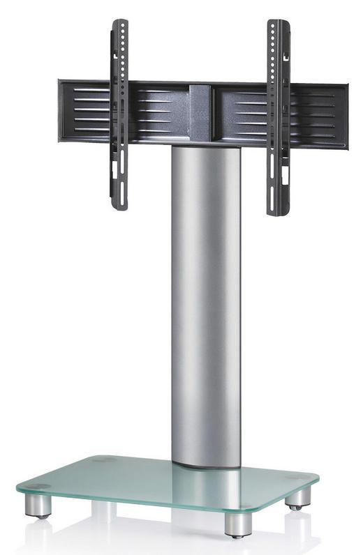 TV-RACK Klar, Silberfarben - Klar/Silberfarben, KONVENTIONELL, Glas/Metall (60/100/44cm)