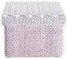 KOŠARA ZA REGAL - roza/bijela, Basics, papir (20/20/16cm) - LANDSCAPE