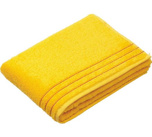 DUSCHTUCH 67/140 cm  - Gelb, Basics, Textil (67/140cm) - Vossen