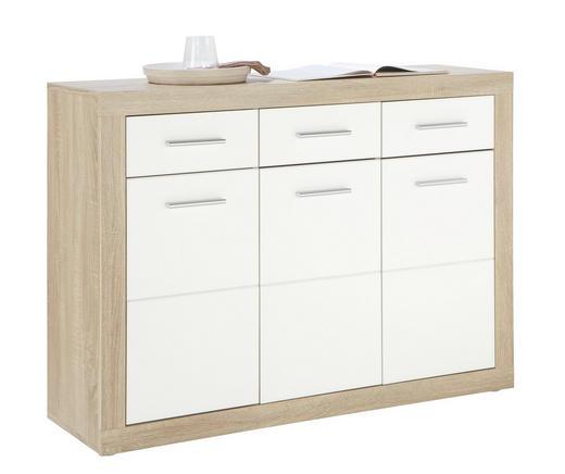 BYRÅ - vit/alufärgad, Design, trä/träbaserade material (117/88/37cm) - Boxxx