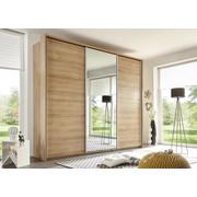ORMAR S KLIZNIM VRATIMA - boje hrasta/boje aluminija, Design, drvni materijal/metal (280/230/60cm) - Xora