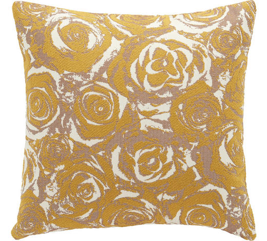 ZIERKISSEN 35/35 cm - Gelb, Design, Textil (35/35cm)