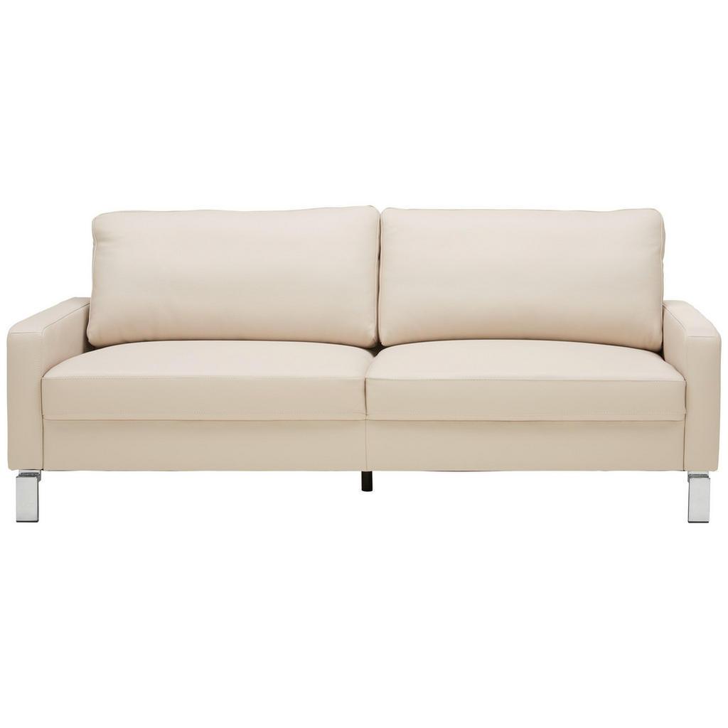 Pure Home Lifestyle Dreisitzer-sofa in leder beige