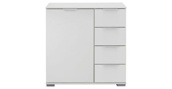 KOMMODE 81/83/41 cm  - Silberfarben/Weiß, KONVENTIONELL, Holzwerkstoff (81/83/41cm) - Cantus