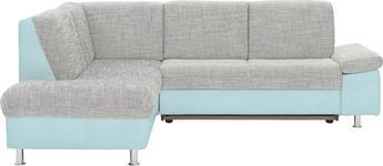 WOHNLANDSCHAFT in Blau, Grau Textil - Chromfarben/Blau, Design, Kunststoff/Textil (198/239cm) - Xora