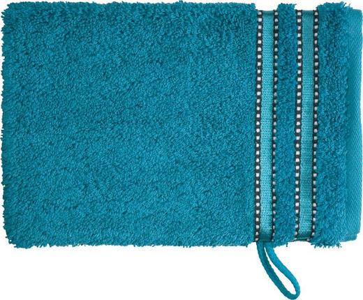 WASCHHANDSCHUH  Blau - Blau, Basics, Textil (16/22cm) - VOSSEN