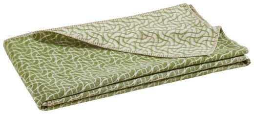 WOHNDECKE 150/200 cm Beige, Grün - Beige/Grün, Basics, Textil (150/200cm) - Linea Natura