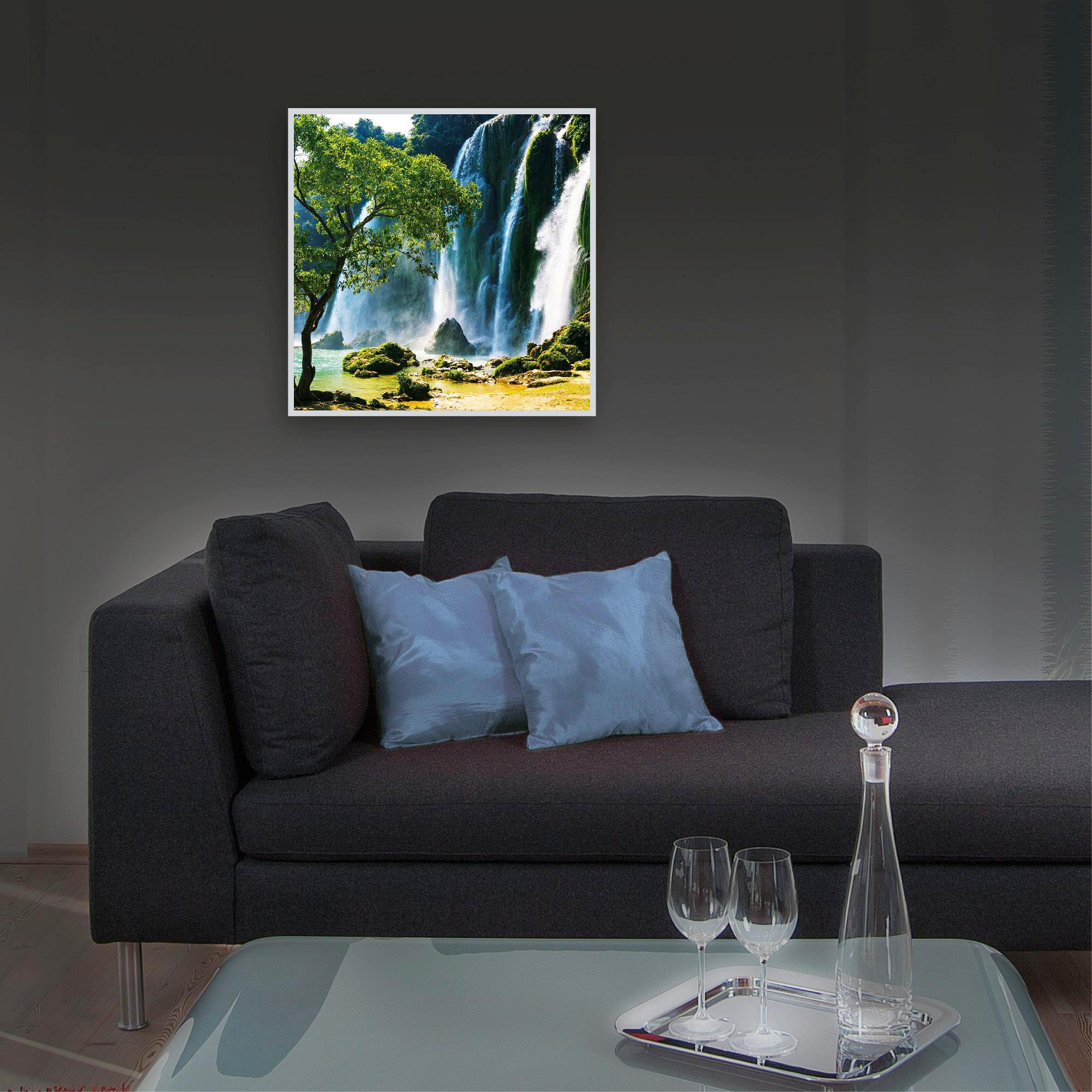 ACRYLGLASBILD - Silberfarben/Multicolor, Basics, Kunststoff/Metall (50/50/4,0cm) - EUROGRAPHICS