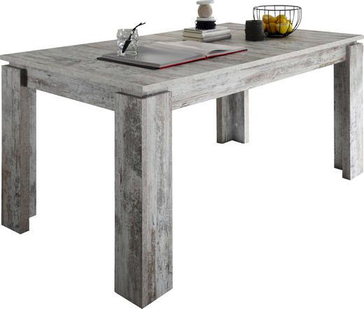 ESSTISCH in Holzwerkstoff - Weiß/Pinienfarben, Basics, Holzwerkstoff (160(200)/90/77cm) - Carryhome
