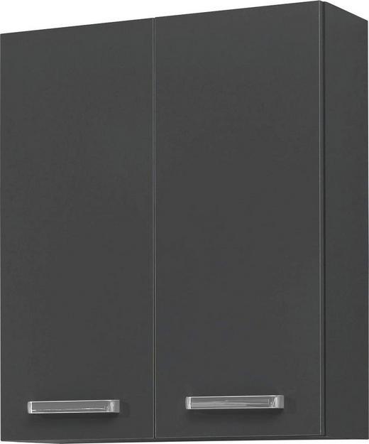 HÄNGESCHRANK Anthrazit - Chromfarben/Anthrazit, KONVENTIONELL, Glas/Holzwerkstoff (60/70/20cm) - Carryhome